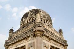 Dettaglio della cupola, tombe di Qutb Shahi Fotografie Stock