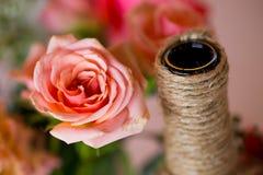 Dettaglio della decorazione di nozze di DIY fotografia stock libera da diritti