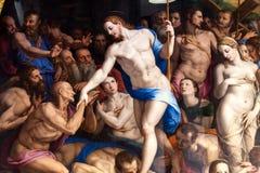Dettaglio della discesa di Cristo al vuoto da Bronzino Fotografia Stock Libera da Diritti