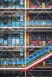 Dettaglio della facciata del centro di Georges Pompidou a Parigi, Francia fotografia stock