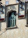 Dettaglio della finestra di Amatller della casa Fotografie Stock
