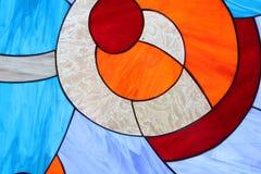 Dettaglio della finestra di vetro macchiato Fotografie Stock