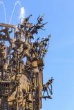 Dettaglio della fontana di carnevale fotografie stock