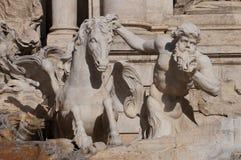 Dettaglio della fontana di Trevi Fotografia Stock