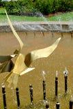 Dettaglio della fontana a Te Awamutu Rose Gardens, Te Awamutu, Nuova Zelanda, NZ, NZL Fotografia Stock Libera da Diritti