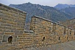 Dettaglio della grande muraglia della Cina in HDR Fotografie Stock Libere da Diritti
