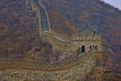 Dettaglio della grande muraglia della Cina in HDR Fotografie Stock