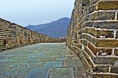 Dettaglio della grande muraglia della Cina in HDR Immagine Stock