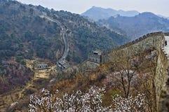 Dettaglio della grande muraglia della Cina in HDR Immagini Stock