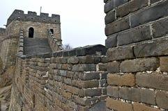 Dettaglio della grande muraglia della Cina in HDR Fotografia Stock