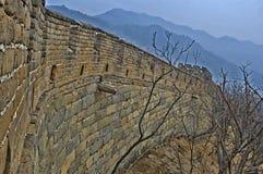 Dettaglio della grande muraglia della Cina in HDR Fotografia Stock Libera da Diritti