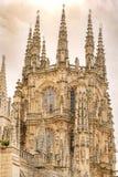 Dettaglio della lanterna della cattedrale di Burgos immagine stock