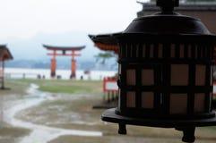 Dettaglio della lanterna giapponese Fotografie Stock Libere da Diritti