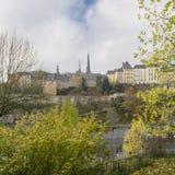 Dettaglio della linea famosa del cielo della città di Lussemburgo Immagine Stock Libera da Diritti