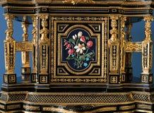 Dettaglio della mobilia al palazzo di Tsarskoye Selo Pushkin Fotografia Stock