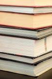 Dettaglio della pila di libri Fotografie Stock