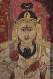 Dettaglio della pittura della parete, Camera di immagine, Kelaniya, Sri Lanka Fotografia Stock Libera da Diritti