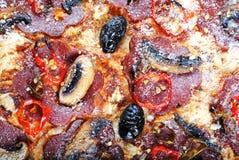 Dettaglio della pizza fotografia stock