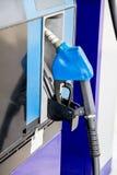 Dettaglio della pompa di benzina, colore blu Fotografia Stock Libera da Diritti