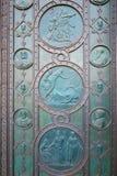 Dettaglio della porta della chiesa di Santi Cirillo e Metodio Fotografie Stock