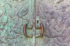 Dettaglio della porta di Petrinovic del mausoleo Fotografia Stock Libera da Diritti