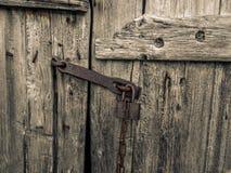 Dettaglio della porta di una capanna del pescatore nel PA nazionale di Rondane fotografia stock