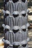 Dettaglio della posta della lampada del ghisa Immagini Stock Libere da Diritti