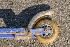 Dettaglio della ruota del motorino Fotografie Stock