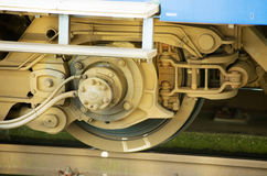 Dettaglio della ruota del treno Fotografia Stock Libera da Diritti