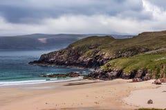 Dettaglio della spiaggia di Durness sull'Atlantico in Scozia del nord Fotografia Stock Libera da Diritti