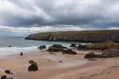 Dettaglio della spiaggia di Durness sull'Atlantico in Scozia del nord Fotografia Stock