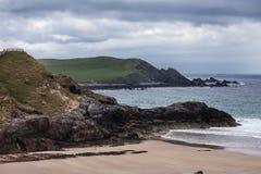 Dettaglio della spiaggia di Durness sull'Atlantico in Scozia del nord Immagine Stock Libera da Diritti