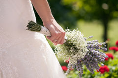 Dettaglio della sposa Immagine Stock