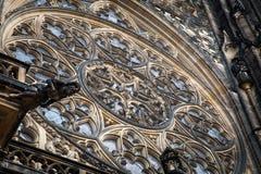 Dettaglio della st Vitus Cathedral da Front View a Praga, repubblica Ceca Immagine Stock Libera da Diritti
