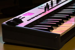 Dettaglio 1 della tastiera del Midi Fotografia Stock Libera da Diritti