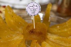 Dettaglio della tavola dolce sul partito di evento o di nozze Fotografie Stock Libere da Diritti