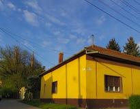 Dettaglio della via dell'Ungheria Toeroekszentmiklos Immagini Stock