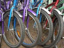 Dettaglio delle biciclette Immagini Stock