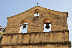 Dettaglio delle campane dell'eremo dell'Abruzzo Fotografia Stock Libera da Diritti