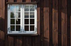 Dettaglio delle finestre di vecchie case in Copenaghen fotografie stock