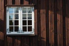 Dettaglio delle finestre di vecchie case in Copenaghen fotografia stock