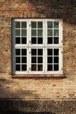 Dettaglio delle finestre di vecchie case in Copenaghen immagini stock