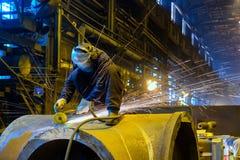 Dettaglio delle maniglie del lavoratore Fotografia Stock Libera da Diritti