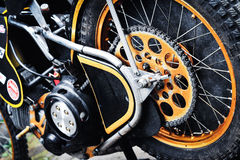 Dettaglio delle motociclette della gara motociclistica su pista Immagine Stock Libera da Diritti