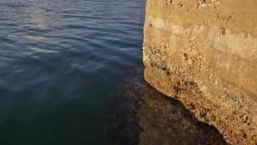 Dettaglio delle pietre differenti dei piccoli pezzi di wallcovering della pietra di struttura archivi video