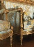 Dettaglio delle poltrone del tessuto al palazzo di Versailles Fotografia Stock Libera da Diritti