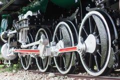 Dettaglio delle ruote su un treno Immagini Stock Libere da Diritti