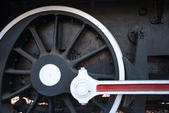 Dettaglio delle ruote su un treno a vapore Immagine Stock
