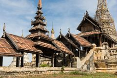 Dettaglio delle tempie antiche in Bagan, Myanmar (Birmania immagine stock