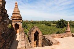Dettaglio delle tempie antiche in Bagan, Myanmar (Birmania fotografia stock
